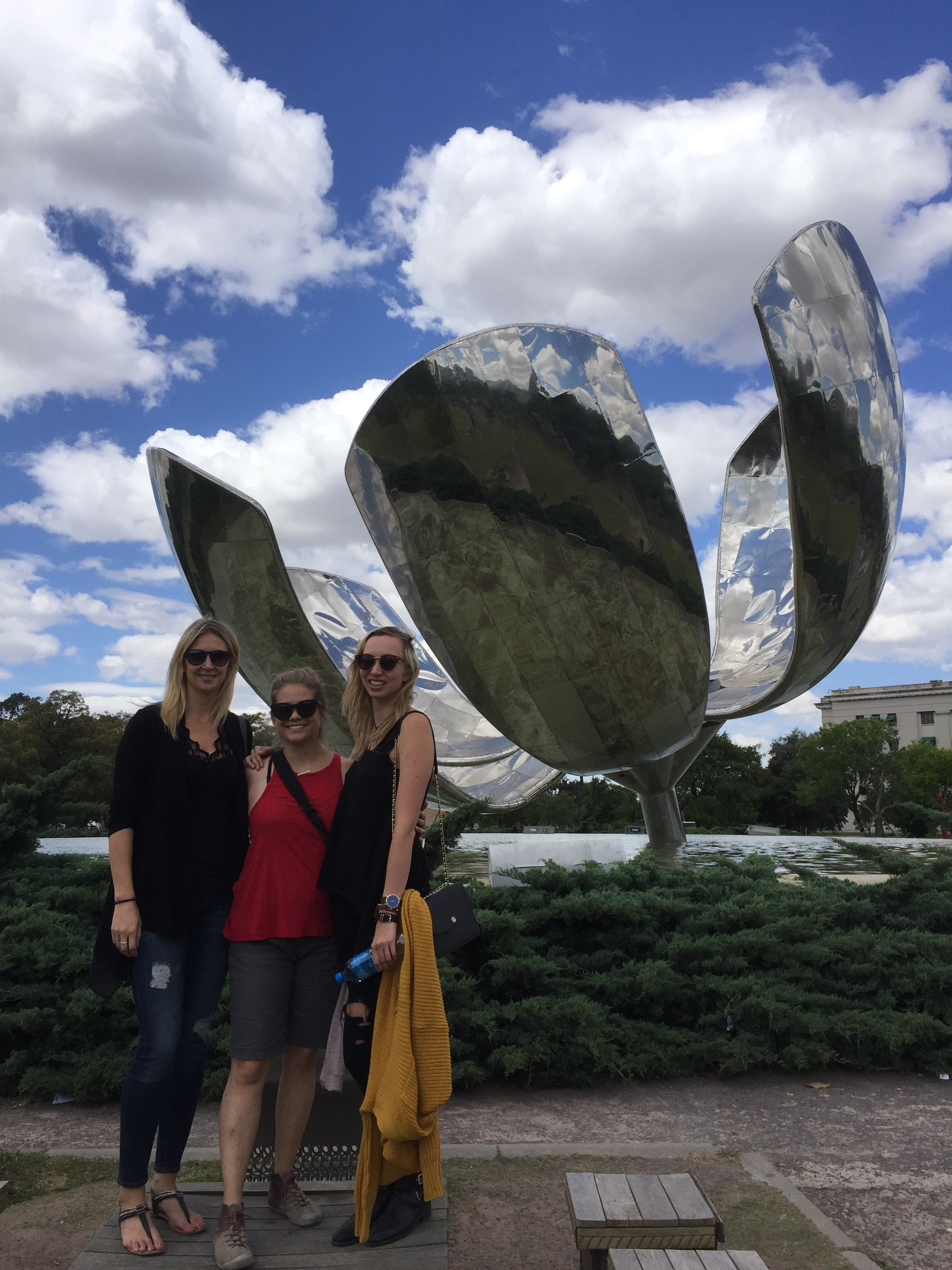 The metallic flower - a popular tourist attraction in BA