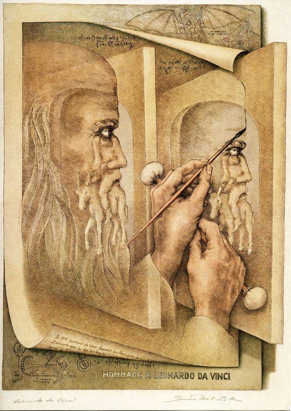 Leonardo Da Vinci, by Sadro Del Prete, 1997