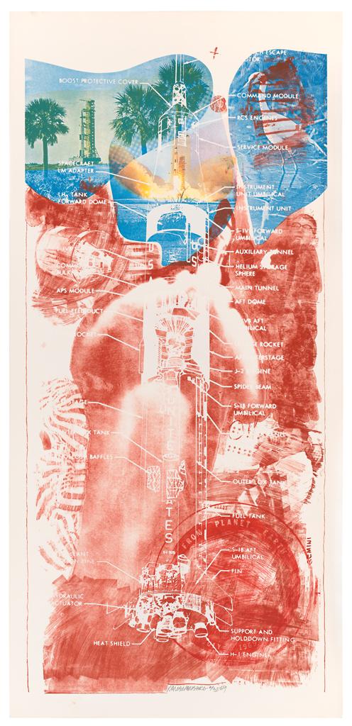 Robert Rauschenberg, Sky Garden (Stoned Moon), 1969