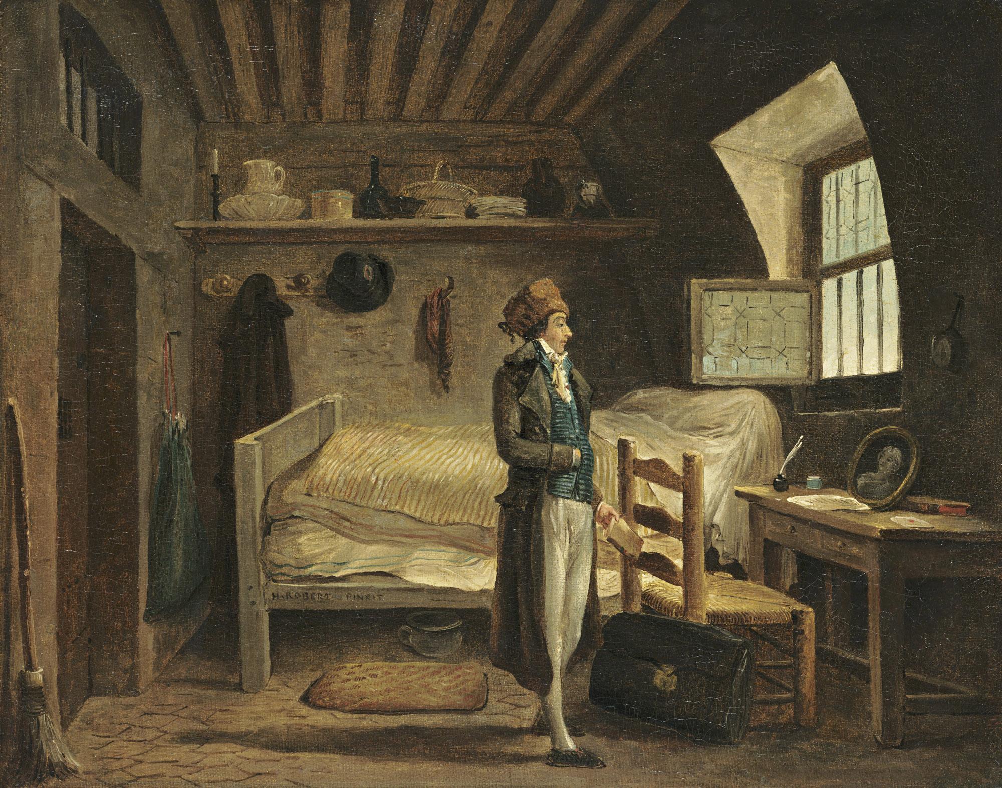 Hubert Robert,  Jean-Antoine Roucher in Prison , 1797, 1937.1