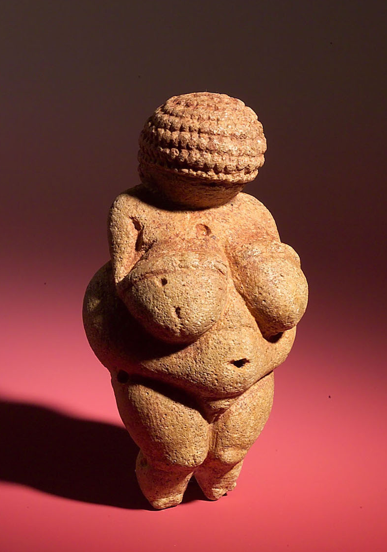 Venus of Willendorf, 30,000 BCE, Found in Austria, Naturhistorisches Museum in Austria