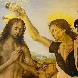 The Baptism of Christ , Detail