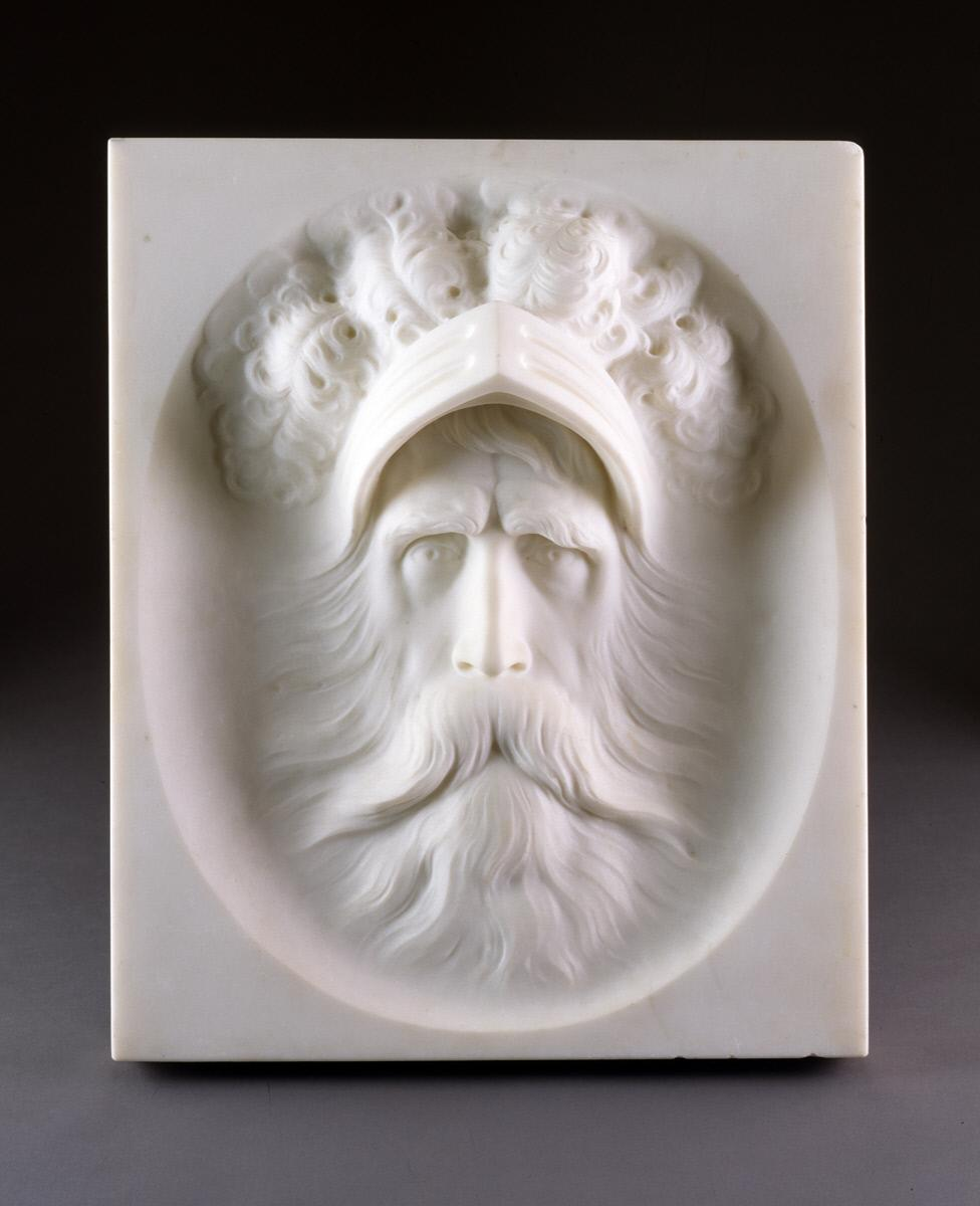 Thomas Gould,  The Ghost in Hamlet , 1880, marble