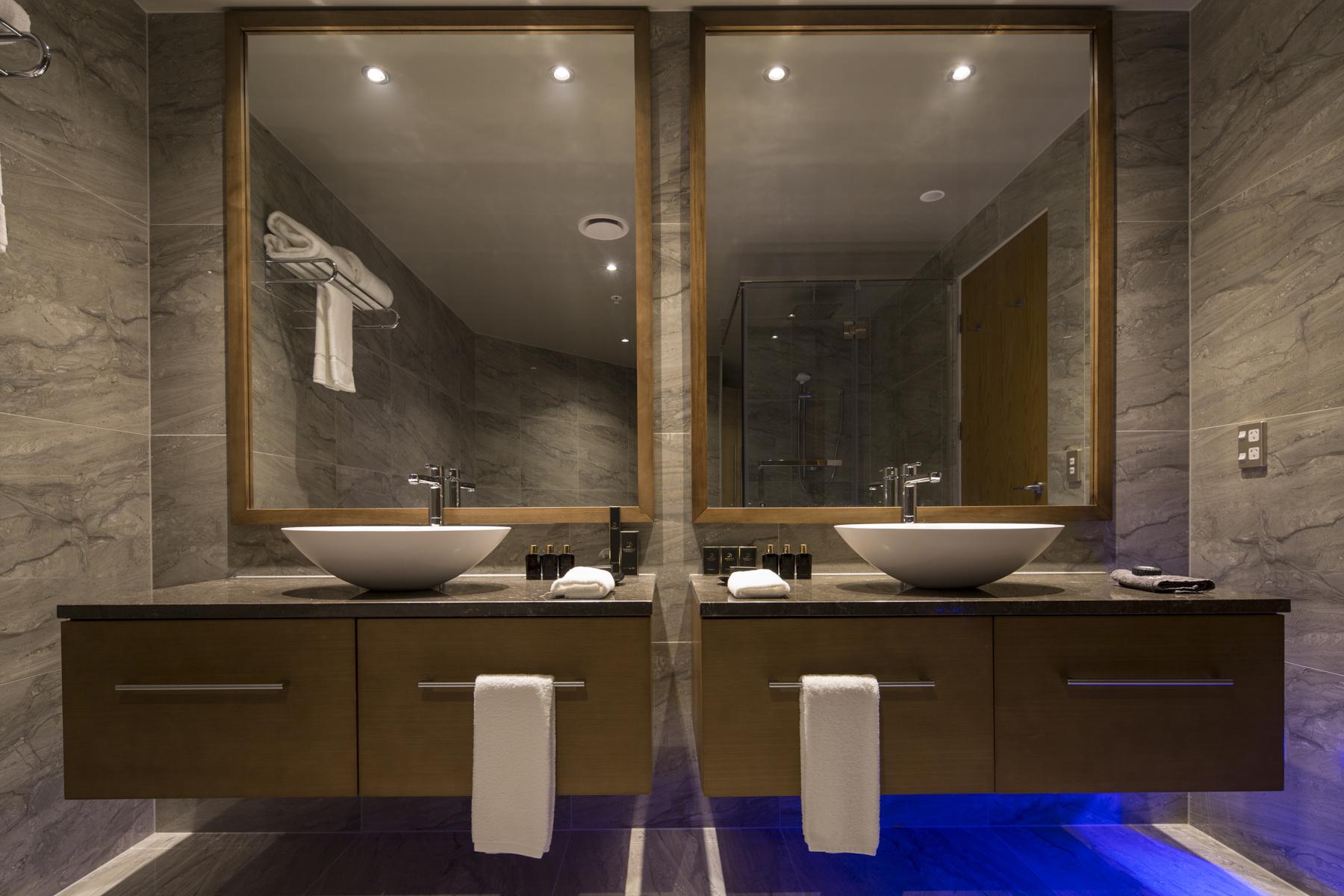Distinction Dunedin double sink bathroom