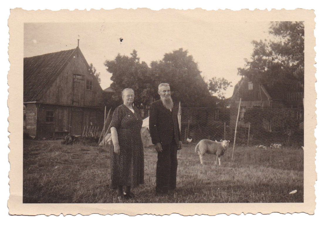 James's great grandparents on their farm in the Netherlands in 1946.