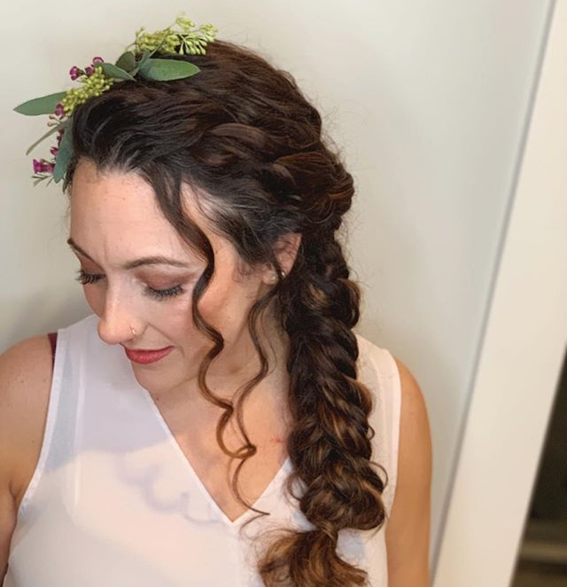 """You belong among the wildflowers You belong somewhere close to me Far away from your trouble and worries You belong somewhere you feel free."" - Tom Petty . . #detroithairstylist #detroitmakeupartist #michiganhairstylist #michiganmakeupartist #michiganbride #detroitbride #michiganwedding #detroitwedding #bohobride #fishtailbraid #curlyhair #bridalhair #bridalmakeup"
