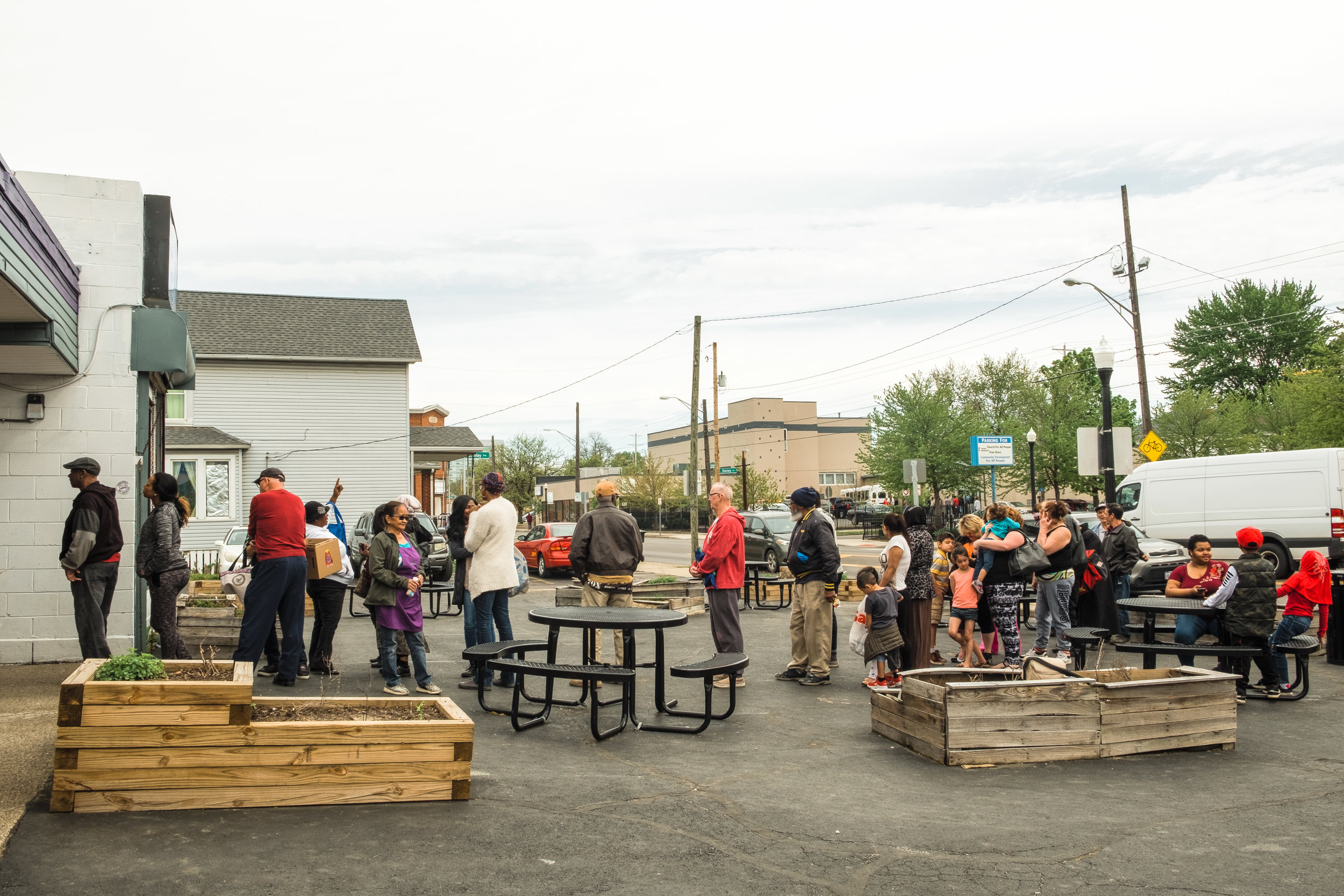 Produce is available to people with earnings up to 200 percent of the federal poverty level. The market opens its doors from 11:00am-5:00pm 5 days a week and every day the line for customers wraps around the building.