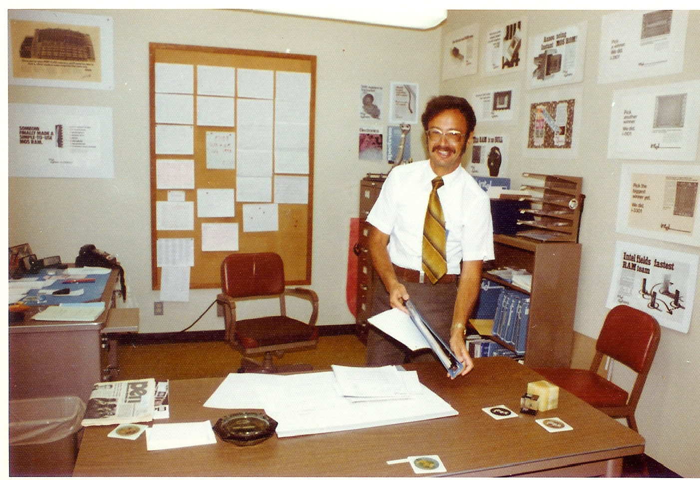 Andy Grove in his Santa Clara office in the 1970s. Photo by  Intel Free Press , licensed under  CC BY 2.0 .