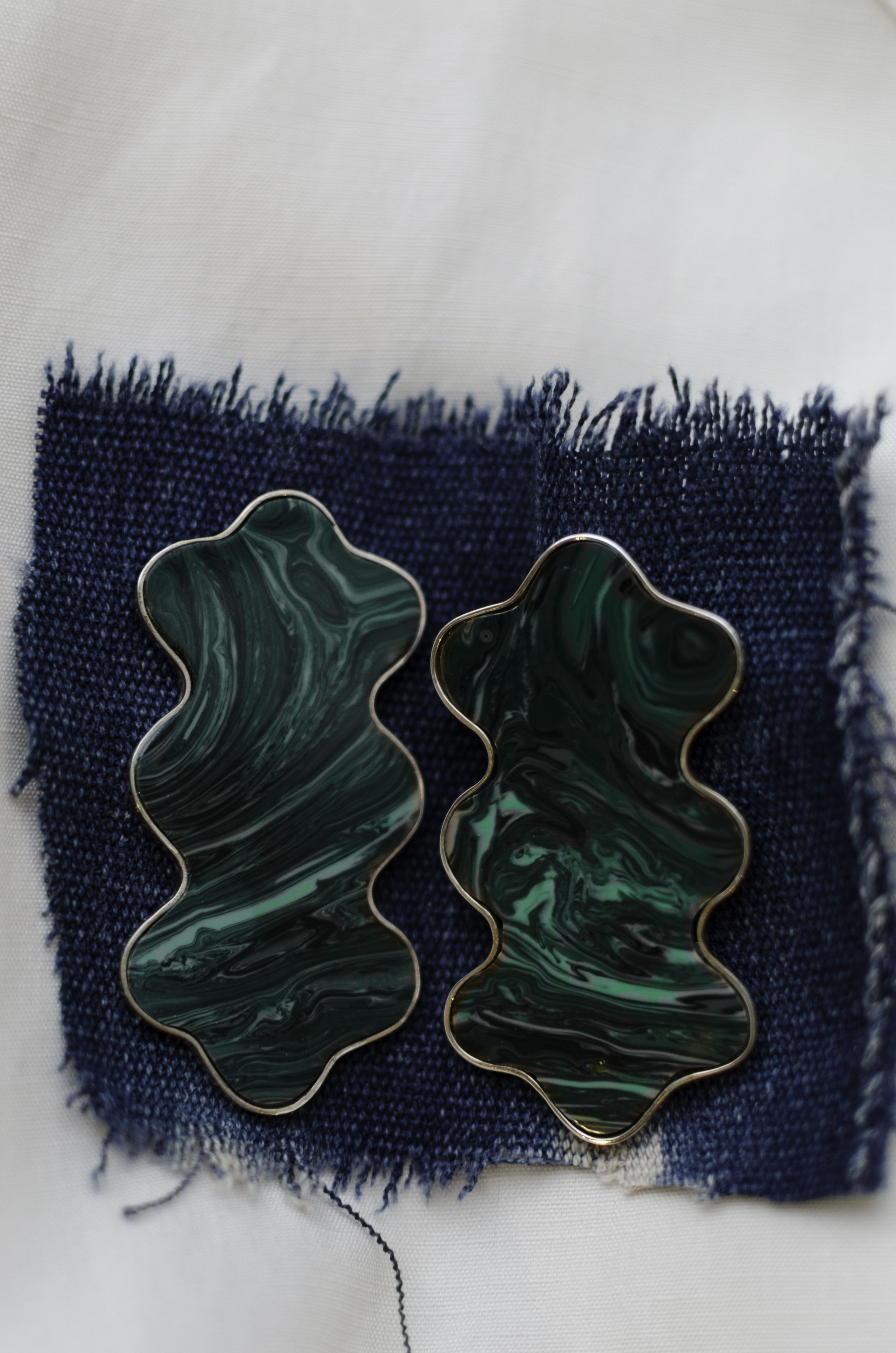 Gala Is Love MalachiteLava Earrings - These beauties are handmade in Mexico using Malachite and Sterling Silver. They're a little spendier at $250 so I'd give them to someone close.