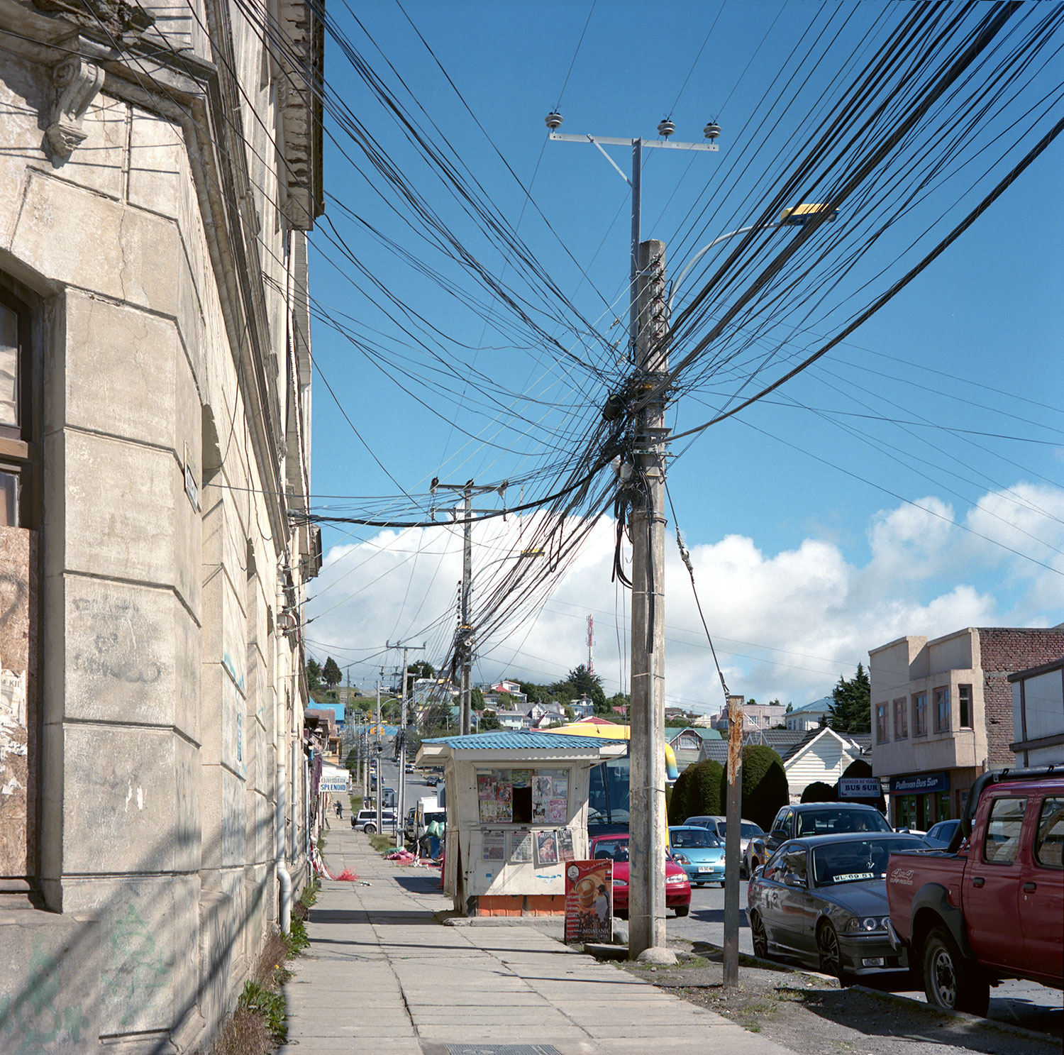 Sidewalk (Electrical Post) - Punta Arenas, Chile, South America, 2012