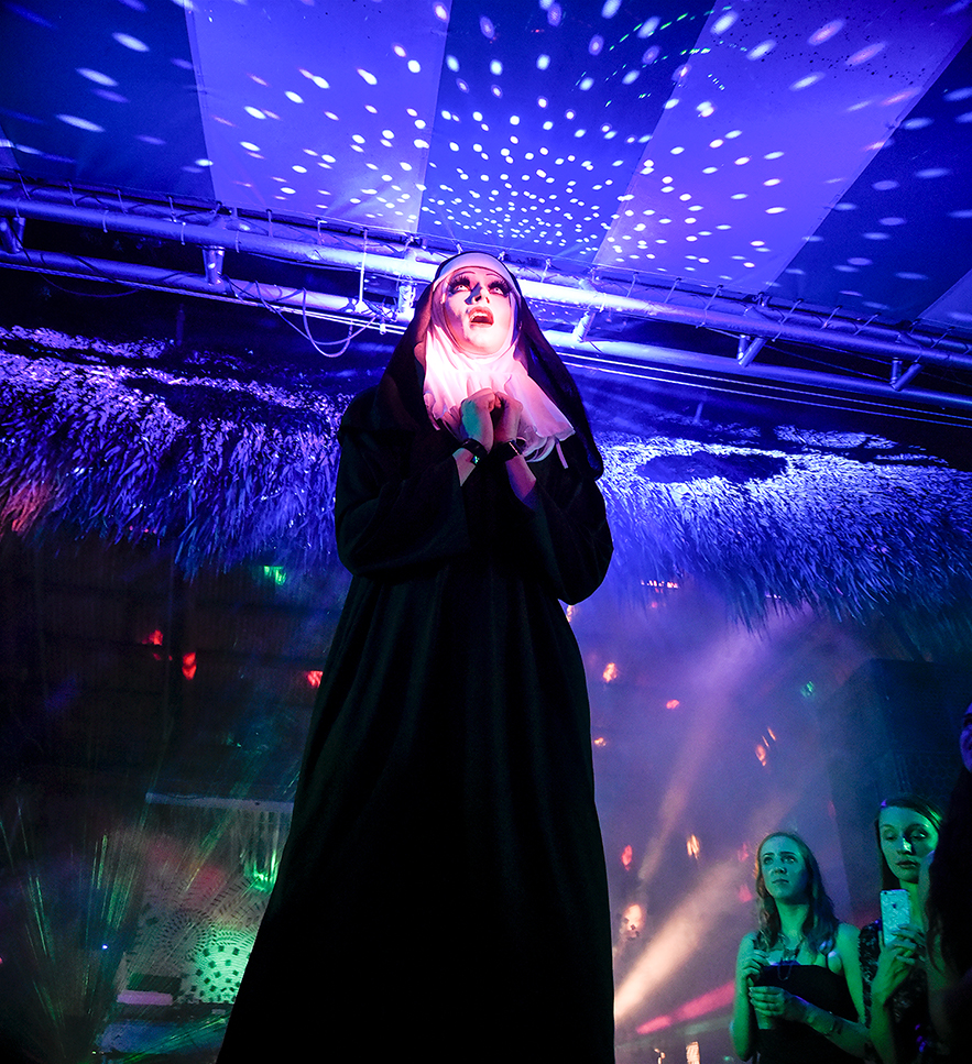 Azula Faux Sapphire performing during Double Stubble at Gramps in the heart of Wynwood