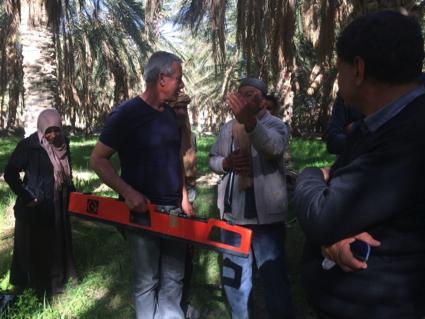 Interaction with Fatnassa farmers (Tunisia)