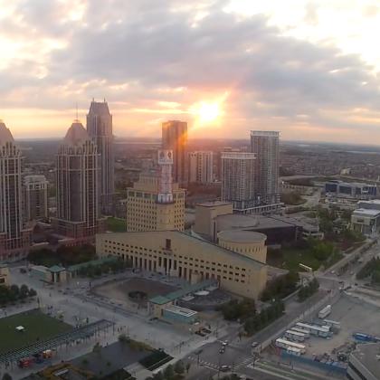 Sunset time-lapse of Celebration Square -
