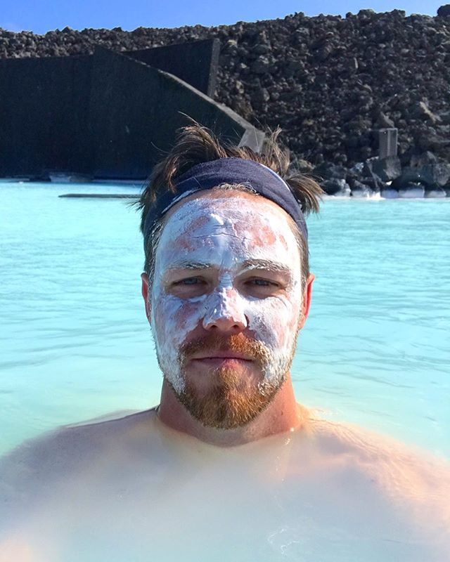 Silica mask at the #BlueLagoon in #Iceland 🇮🇸👌🏼