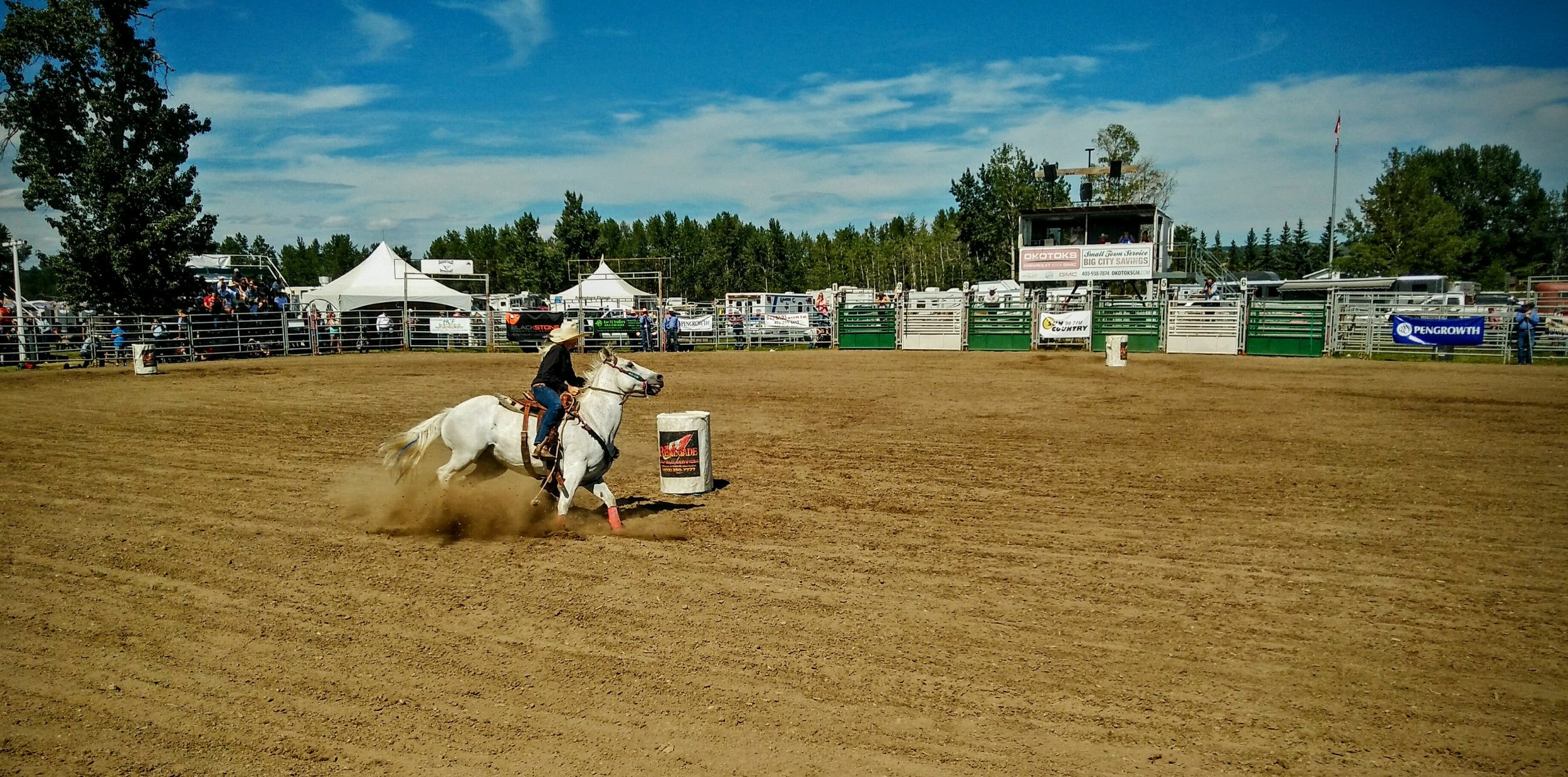 A more intimate, more impressive view of the rodeo at Millarville.
