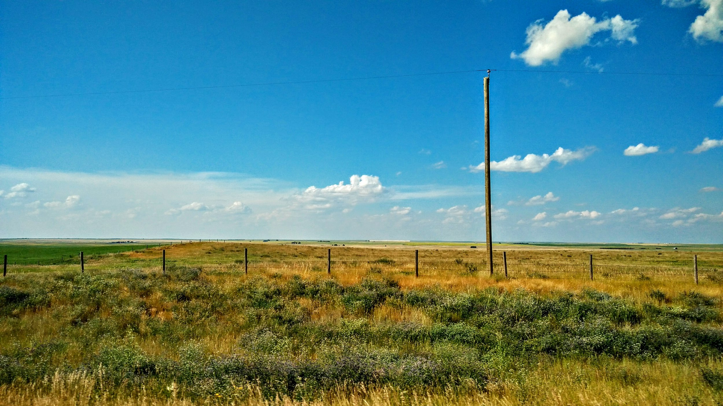 The Canadian Prairies, the place where the living skies change the scenery every moment.