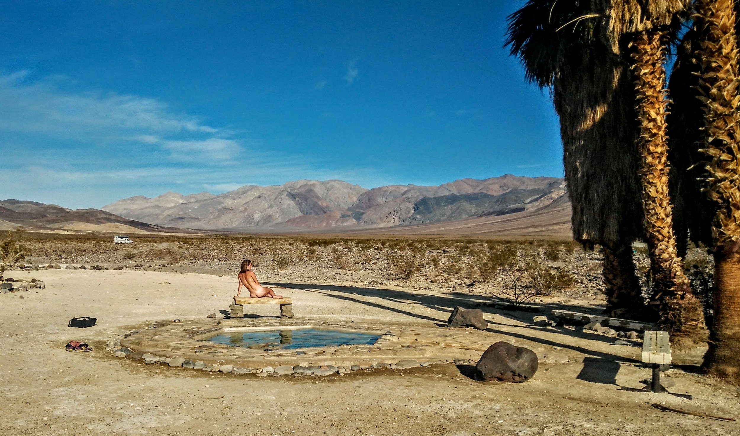 Beautiful, clothing optional, Saline Valley Hot Springs, our favourite place on Earth.