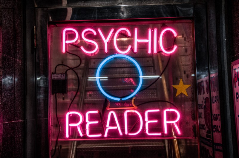 """turned on red Psychic Reader neon sign"" by  Scott Rodgerson  on  Unsplash"