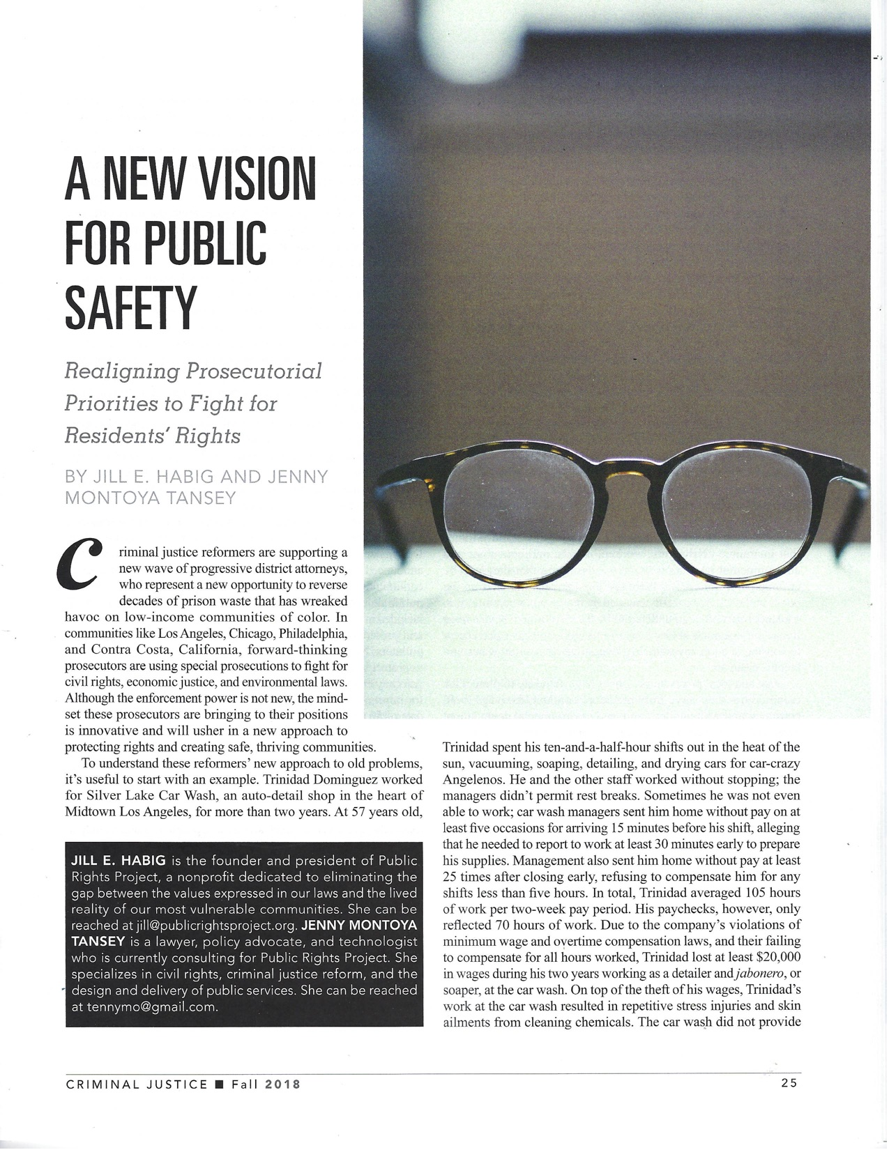 A New Vision for Public Safety - Click here for PDF.