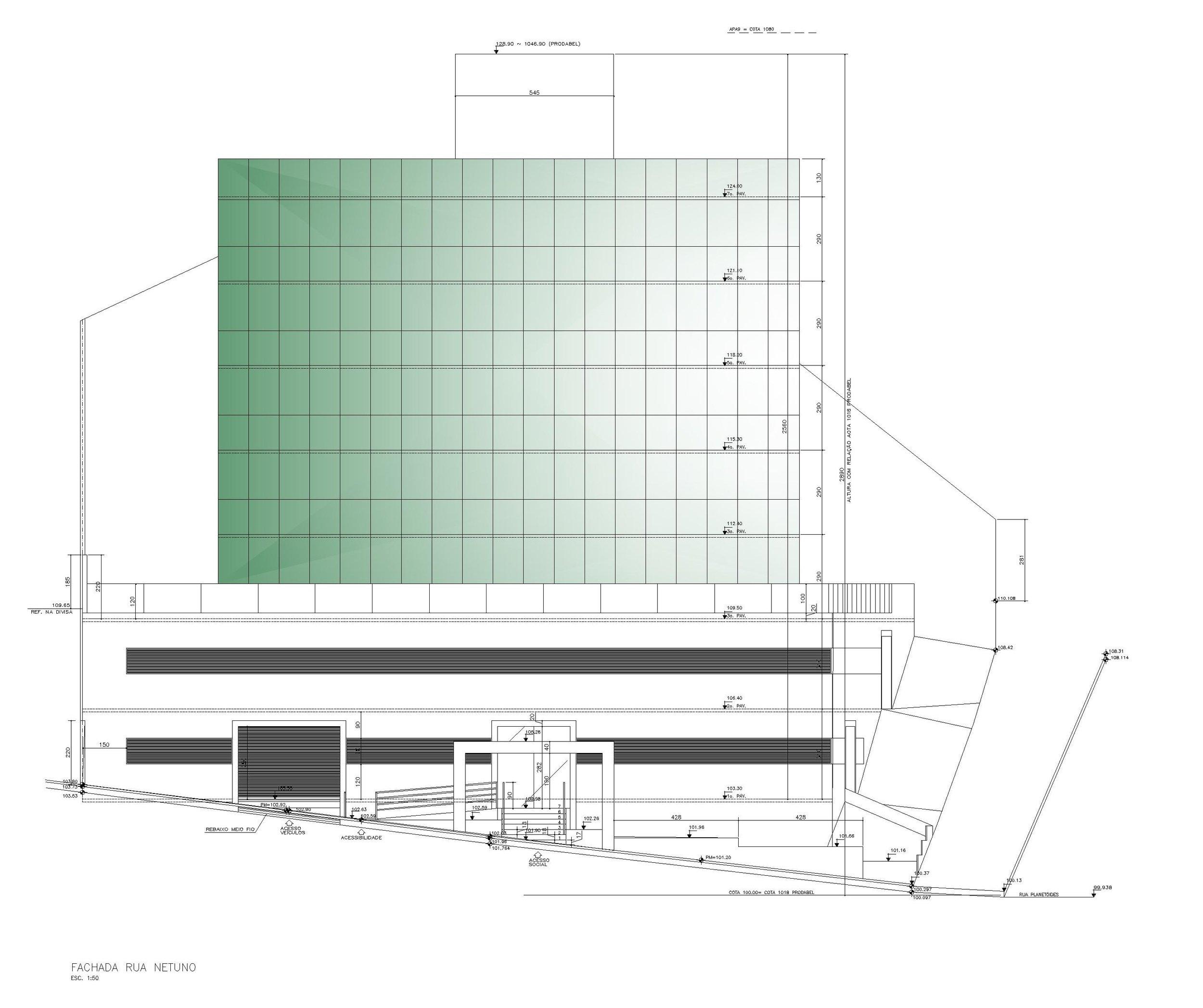 Edifício Comercial Santa Lúcia - Belo Horizonte/MG  Cliente: Construtora APO