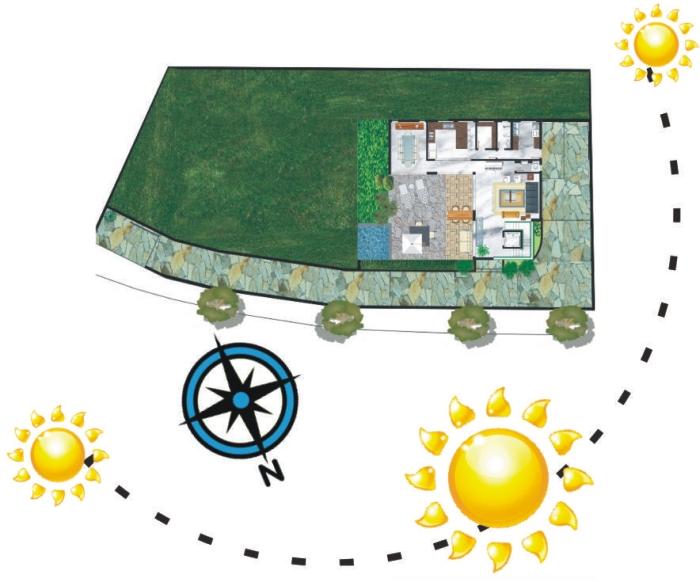 Casa Nova Lima/MGCliente: ProprietáriosServiço:Projeto Arquitetura Bioclimática - Estratégias para conforto térmico; Sistemas economizadores e eficientes; Aquecimento solar;Painéis Fotovoltaicos para geração de energia;Aproveitamento da água de chuva.