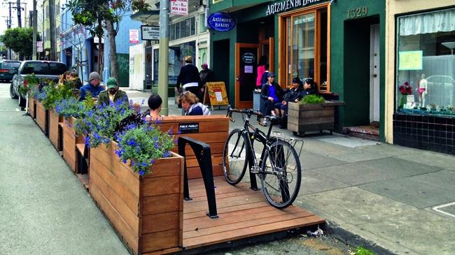 Parklet em São Francisco