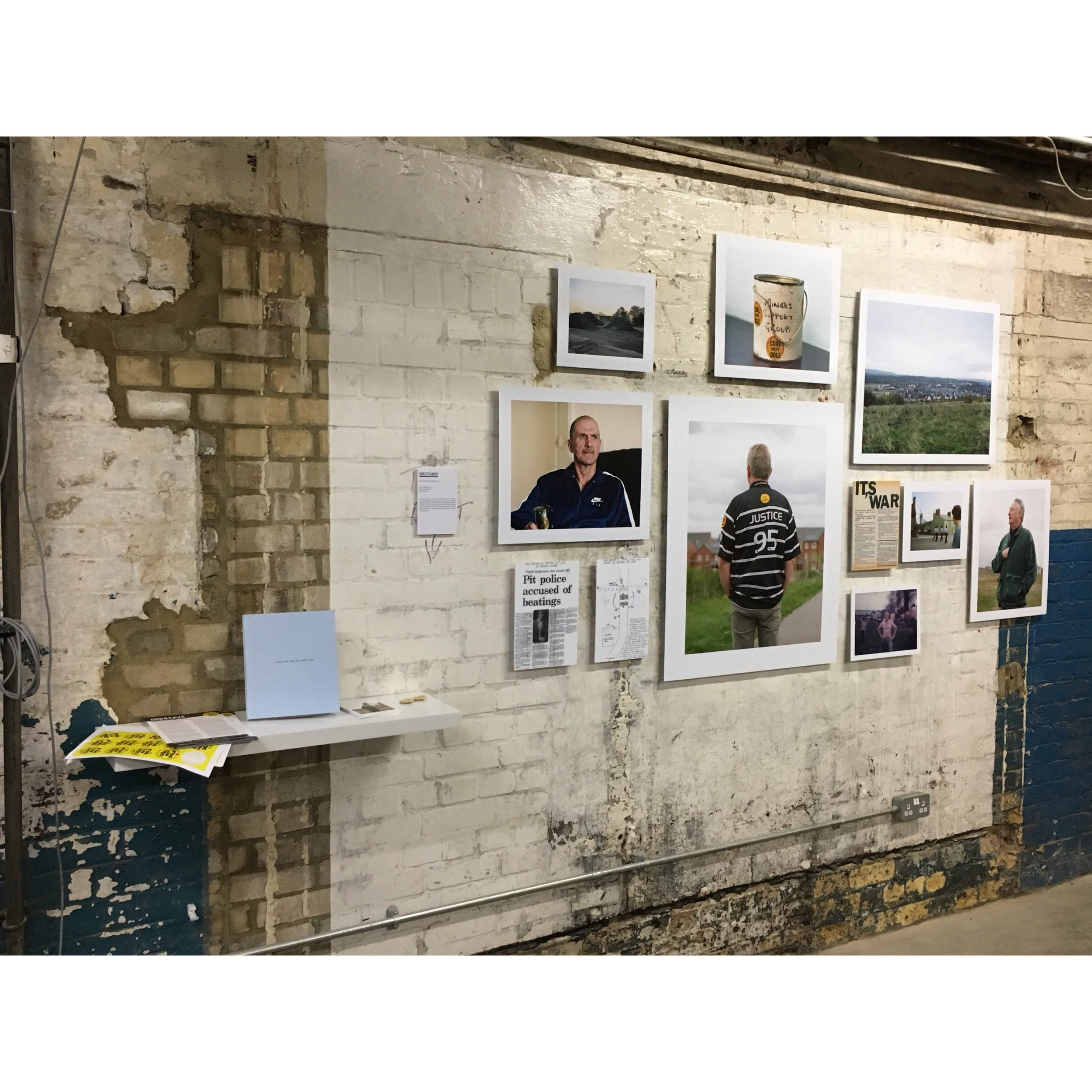 Exhibition View: Scarlett O'Flaherty, Coal Dust & The White Rose, Truman Brewery 2017