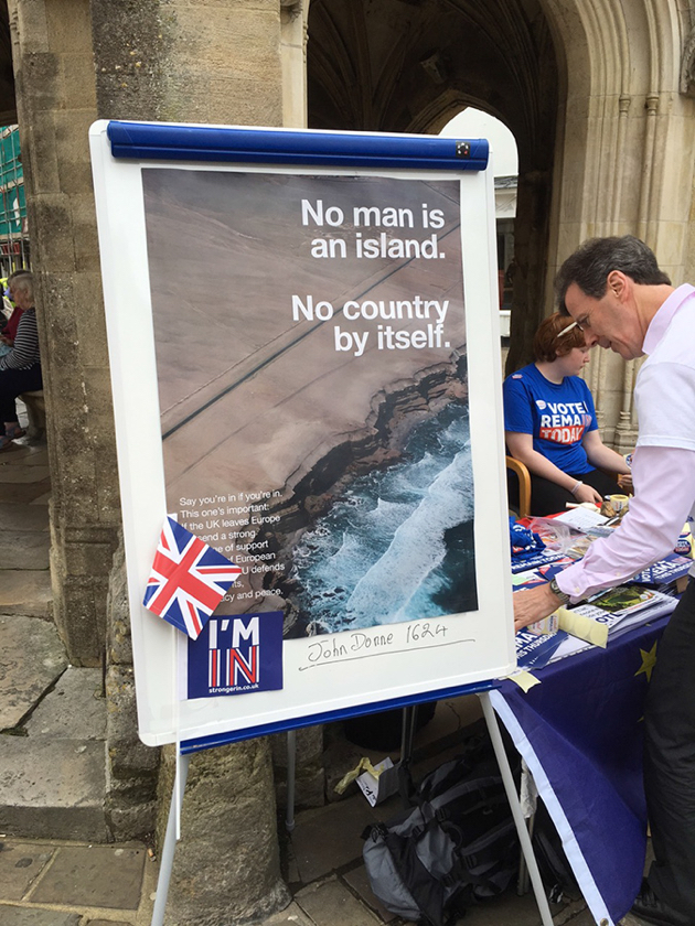 23rd June 2016 - Anti Brexit Campaign, Wolfgang Tillmans - https://bit.ly/2M2l6K2