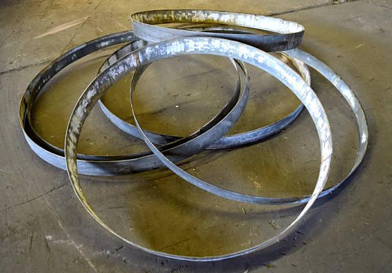 Pack of 6 Steel Wine Barrel Hoops - $45