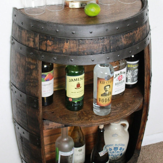 Whiskey Barrel Half Bar Large 53 Gallon - $389