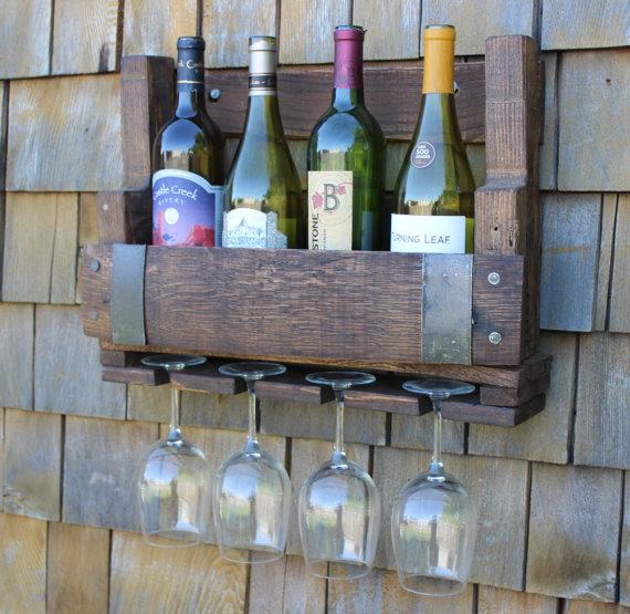 Wine Barrel Wine Rack - $75