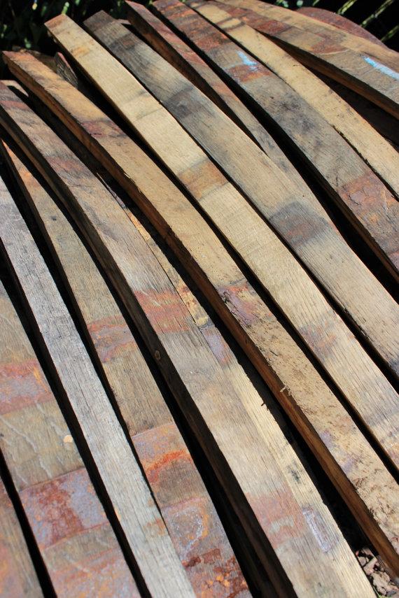 25 Whiskey Barrel Oak Staves - $50