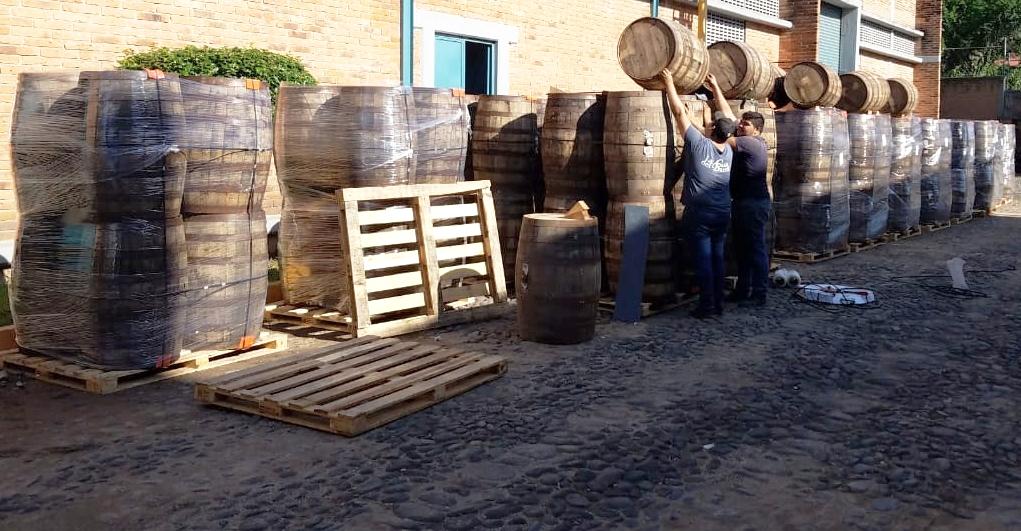 Añejo Tequila Barrel Loading