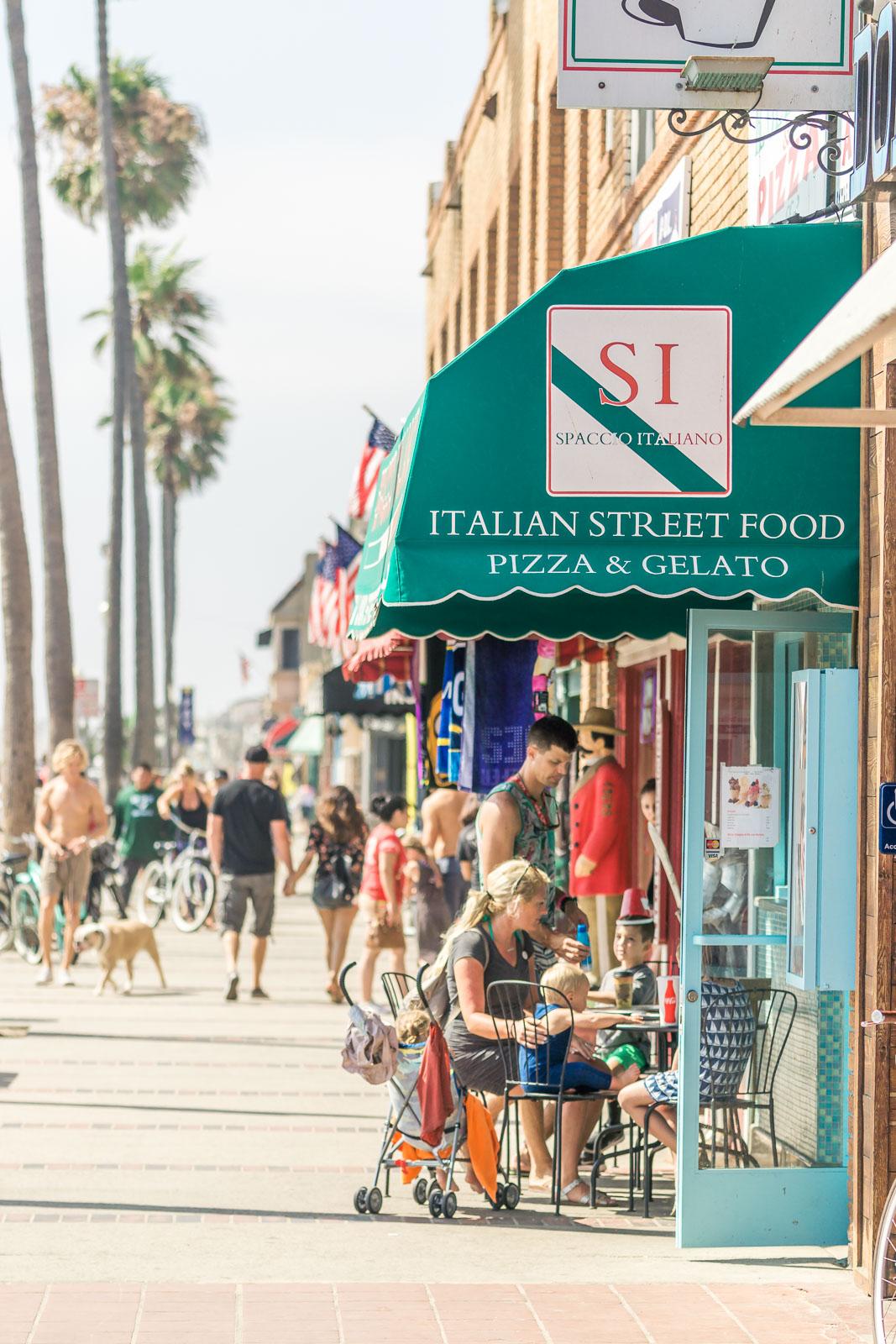 Balboa Peninsula shops and restaurants At Newport Beach pier