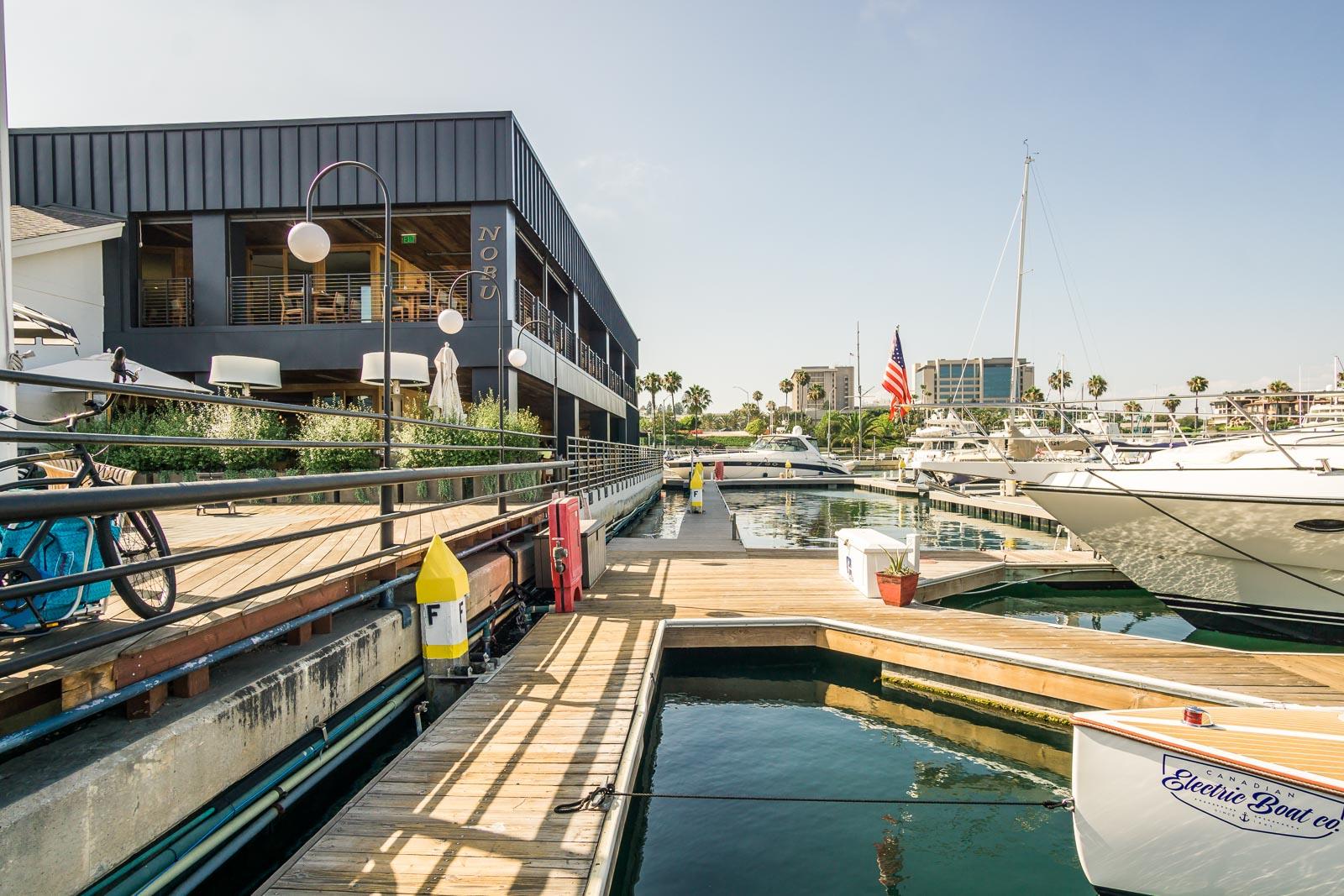 Lido Marina Harbor view from Nobu restaurant and Zinque restaurant