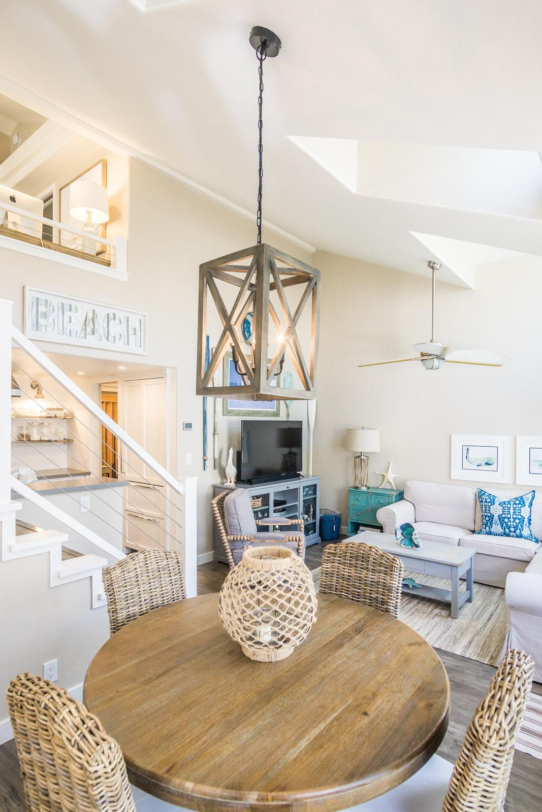Cozy beach cottage on Lido Island Newport Beach designed by Raili Clasen of Raili CA design