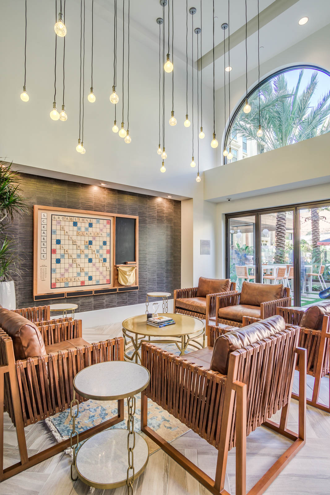 modern luxury condos in laguna nigel at Broadstone cavora with a game room TV Installed by silver Starsound and electric