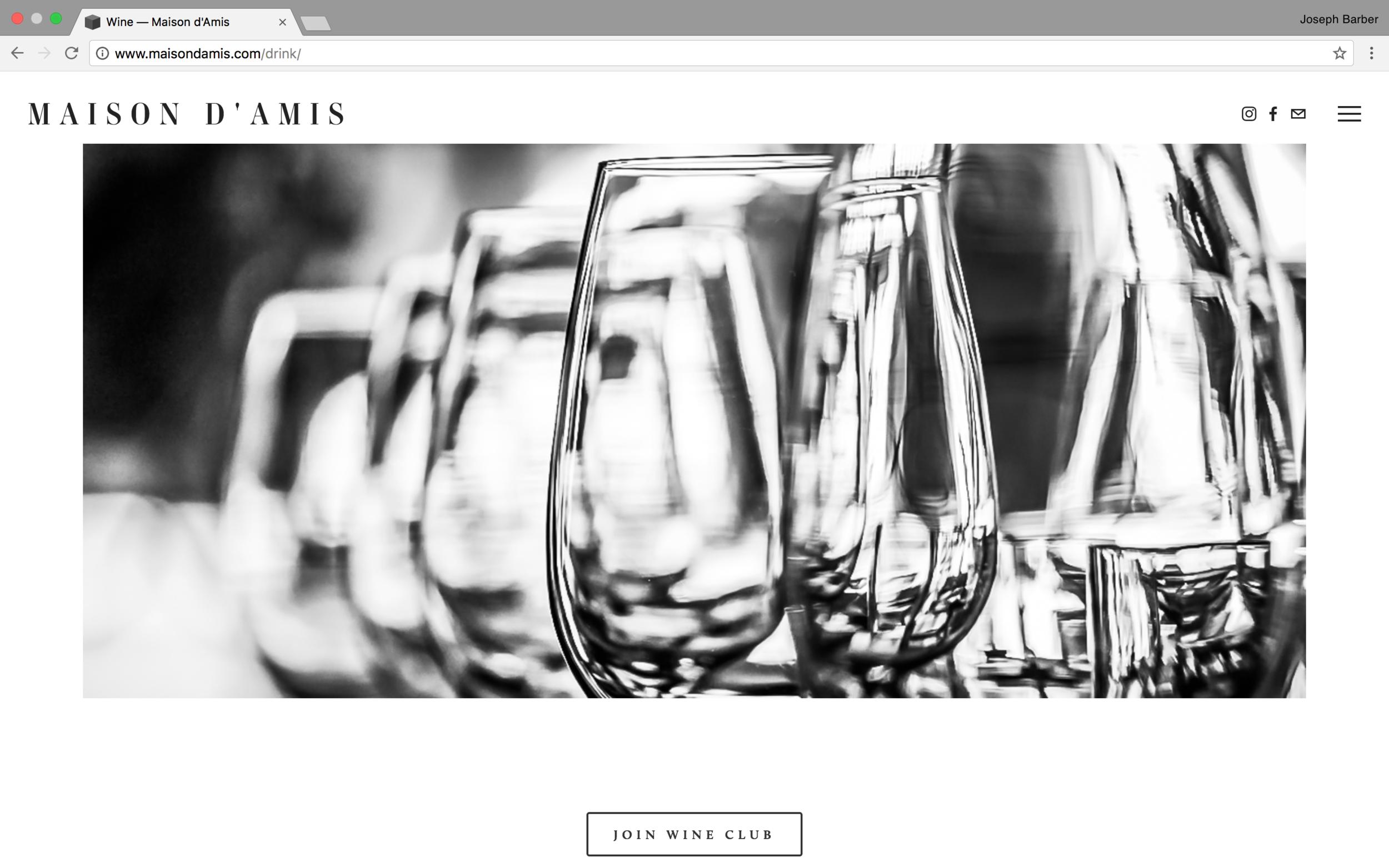 Screen shot of a Website I designed here At Joseph Barber Studios
