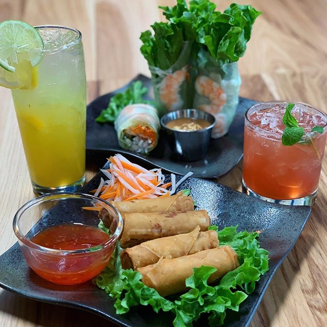 ROLL on in to @hem23pdx and ask about our special deal!  When you order any 2 beverages with 2 entrees, you will receive a free order of our fresh salad rolls or crispy imperial rolls. This is a deal you wouldn't want to miss!  You also don't want to miss out on happy hour ALL day EVERY Monday! #happyfriday #hem23 #hem23pdx #nw23rd #portlandeats #portlandbar #portlandgrill #pdxeats #pdxstreetfood #pdxhappyhour