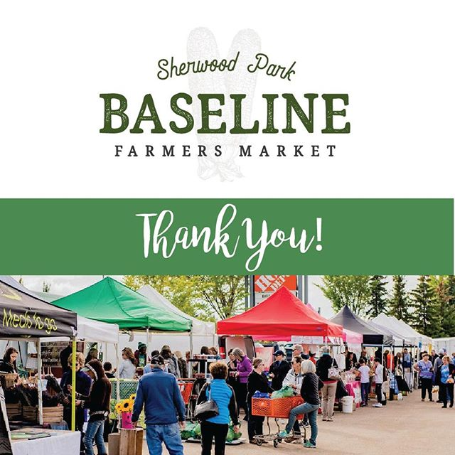 Well, that's a wrap and we have a few words of 'thanks' that we just have to share. Thank you to all of our vendors who work so hard to bring out the best locally grown, sourced and made products every week! Thank you to the community who has supported our market for 20 years. Thank you to the neighbouring businesses around us (Home Depot and others)  who have helped us stay in our great location for so many years. And thank you to our managers, Gary and Kyla, who work tirelessly to keep the market running like a well-oiled machine! 🙏 . . . . . . . . . . #givingthanks #thanksgiving #baselinefarmersmarket #sherwoodparkmarket #shpk #yegfood #albertafood #albertafarmers #albertaagriculture #albertaeats #yegeats #yegmoms #yegfamily #yegflowers #yeglocal #familyfunyeg #yegevents #sherwoodpark #shpkkids #shpkmoms #strathconacounty #albertafarmersmarkets #yegfarmersmarket #shoplocaledmonton #shoplocalalberta #albertagrowers #albertabusiness