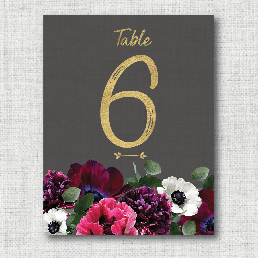 TABLE NAME / NUMBER: