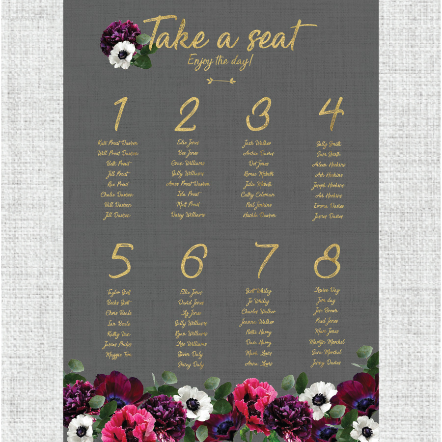 TABLE PLANNER: