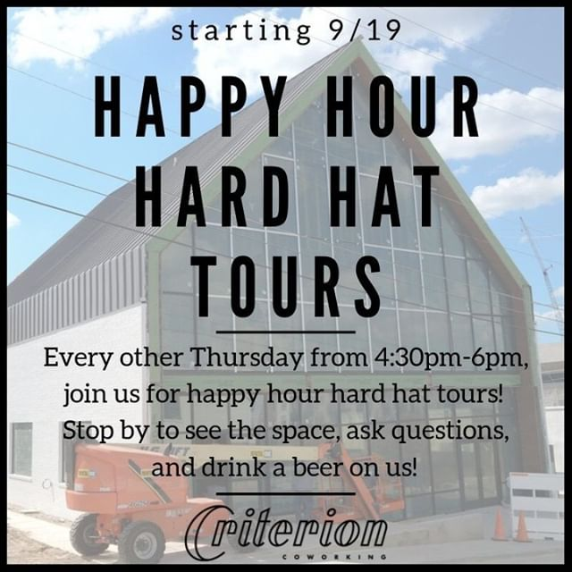 Join us this afternoon for our first Happy Hour Hard Hat Tour! Pop by before @thirdthursdayftw Art Walk or @theboweryatsouthside Grand Opening and see our space, have a drink or popsicle on us, and come say hey 👋 We can't wait to share our space with you.