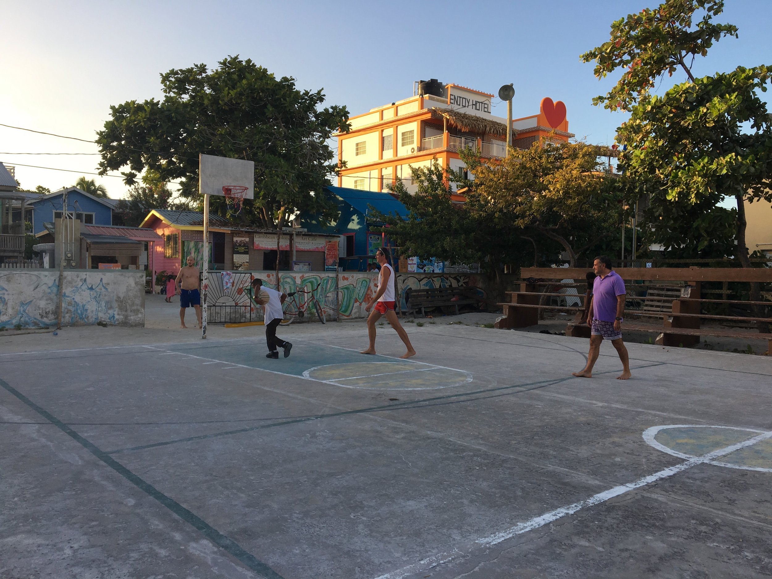 The island basketball court