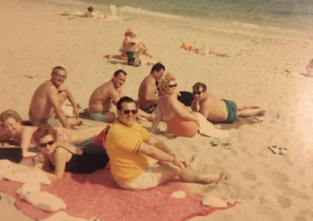 - Photo of mid-century family on beach that I found in Williamsburg store