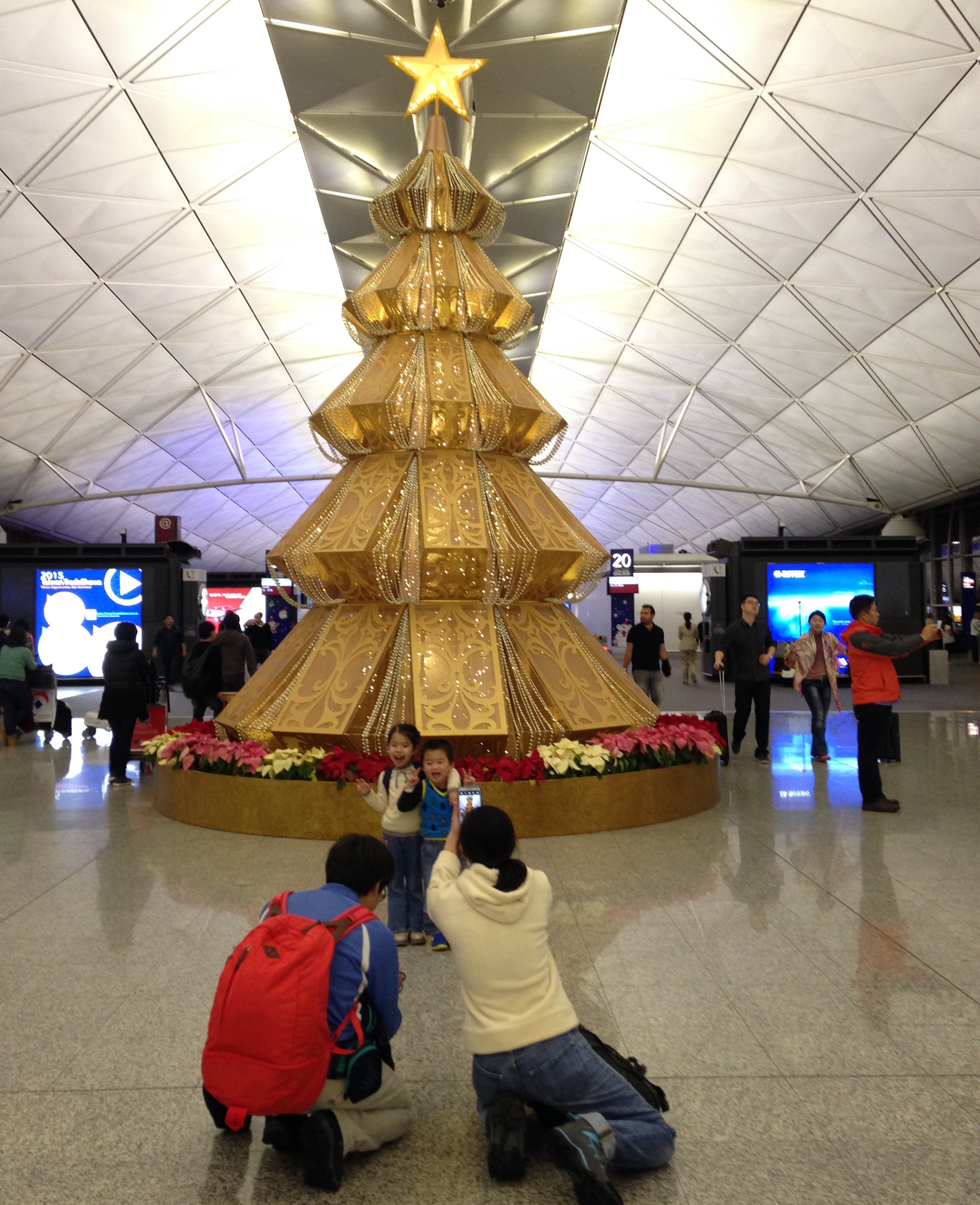 Hong Kong's Airport feels like the high end shopping mall of the future