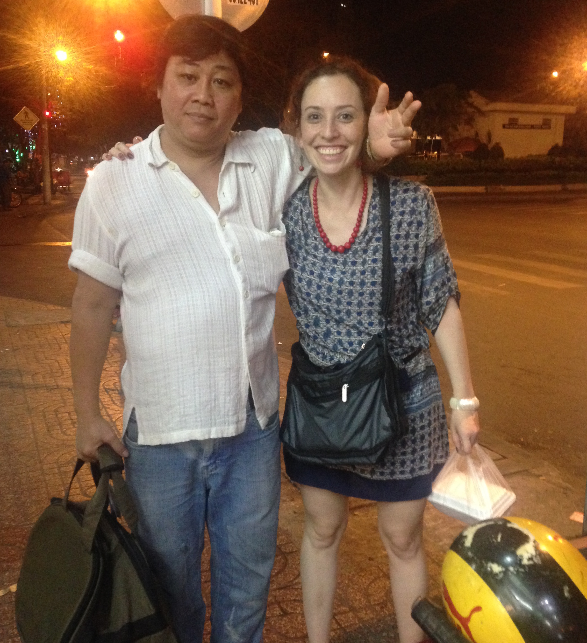 Hei and I during my last night in Vietnam