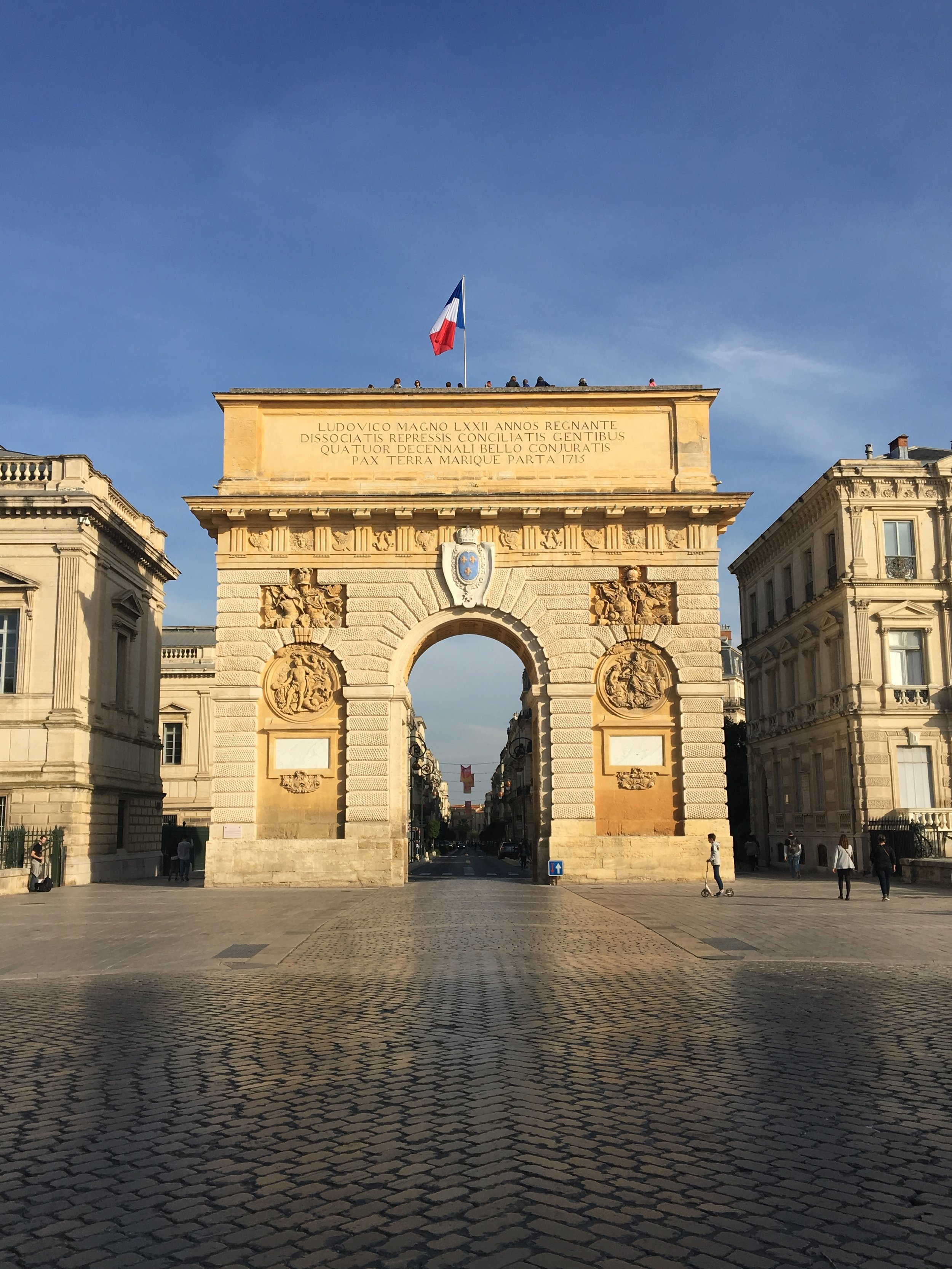 The Arc de Triomphe or Place de Peyrou