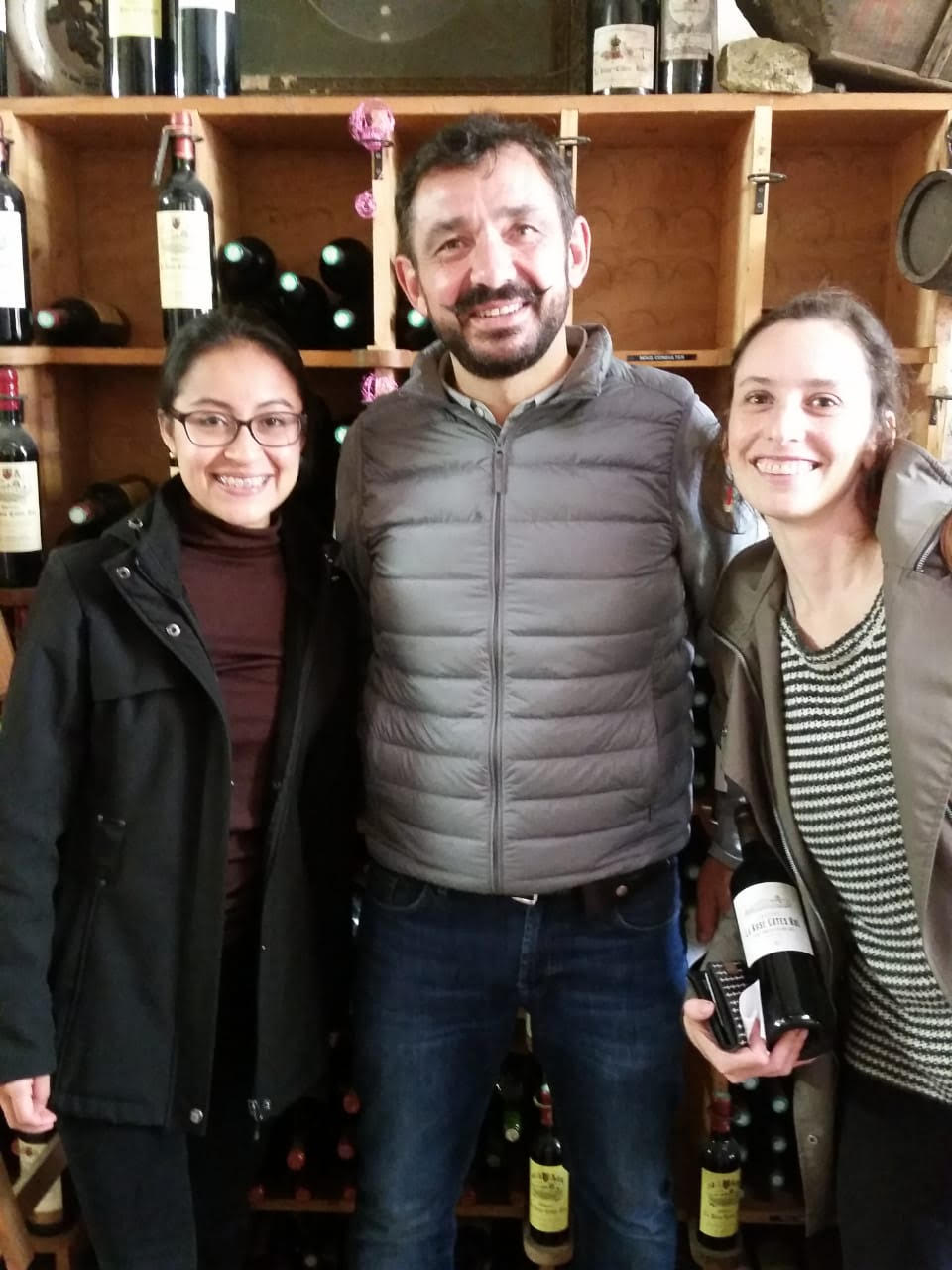 My roommate and fellow language teaching assistant Brenda and I with Château La Rose Cotes Rol proprietor Pierre Mirande