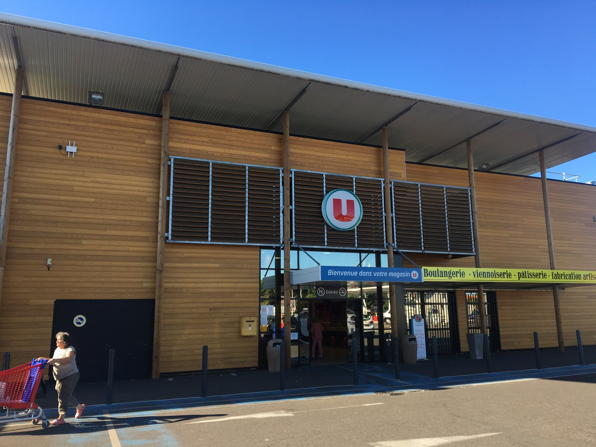 My local Super U, part of one of France's big grocery store chains
